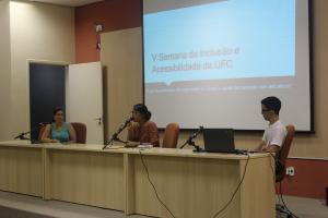 Participantes apresentam trabalhos na V Semana de Inclusão e Acessibilidade